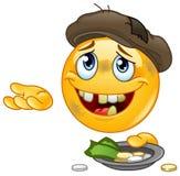 Emoticon sin hogar stock de ilustración