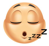 Emoticon sleeping Stock Images
