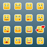Emoticon smile stickers Royalty Free Stock Image