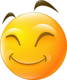 Emoticon smile for you design Stock Images