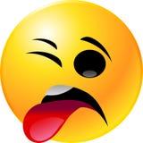 Emoticon Smiley Face. Vector clip art illustration of an emoticon smiley face icon Royalty Free Stock Images