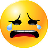 Emoticon Smiley Face. Vector clip art illustration of an emoticon smiley face icon Royalty Free Stock Image