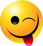Emoticon Smiley Face. Vector clip art illustration of an emoticon smiley face icon Stock Photos