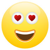 Emoticon Smiley Face Love Royaltyfria Bilder