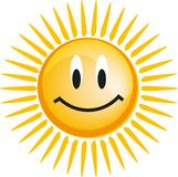 Emoticon with smiley face Royalty Free Stock Image