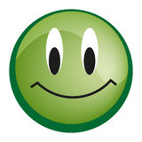 Emoticon with smiley face Stock Photos