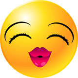 Emoticon-smiley-Gesicht Stockfotos