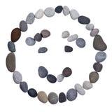 Emoticon smiley stone Stock Photo
