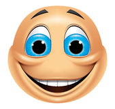 Emoticon smiling Stock Images
