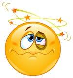 emoticon som ser stjärnor Royaltyfria Bilder