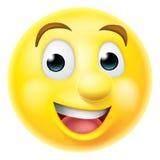 Emoticon sonriente feliz del emoji Fotografía de archivo libre de regalías