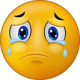 Emoticon sonriente triste de la historieta Imagen de archivo