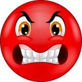 Emoticon sorridente arrabbiato del fumetto Immagini Stock Libere da Diritti