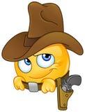 Emoticon sorridente del cowboy illustrazione vettoriale