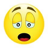 Emoticon sorridente giallo triste Immagine Stock