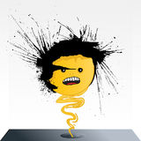 Emoticon splatter spirit Royalty Free Stock Image