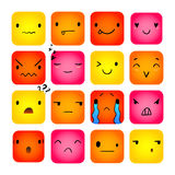 Emoticon Square Doodle 7 Stock Image