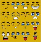 Emoticon stellt Sammlung gegenüber Lizenzfreie Stockfotografie
