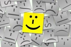 Emoticon Sticky Note Stock Photo