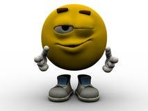 Emoticon - strizzatina d'occhio Fotografie Stock