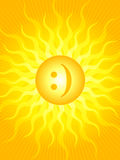 Emoticon sun Royalty Free Stock Photo