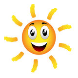 Emoticon sun Royalty Free Stock Image