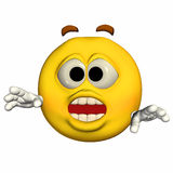 Emoticon - Surprised Stock Photos