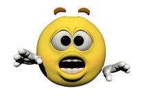 Emoticon surprised Stock Images
