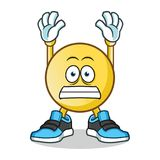 Emoticon surrender mascot vector cartoon illustration. This is an original character Royalty Free Stock Photography