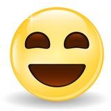 emoticon target1284_0_ Uśmiechnięty emoji Emoticon ikona Fotografia Royalty Free