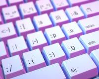 Emoticon-Tastatur Stockfotos