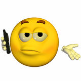 Emoticon - Telefoongesprek Royalty-vrije Stock Foto