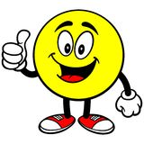 Emoticon with Thumbs Up Royalty Free Stock Image