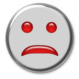 Emoticon triste Foto de Stock