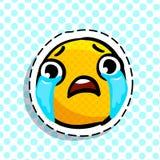 Emoticon triste de grito Foto de Stock