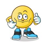 Emoticon ugly mascot vector cartoon illustration. This is an original character Stock Image