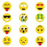 Emoticon with various emotions. royalty free stock photography