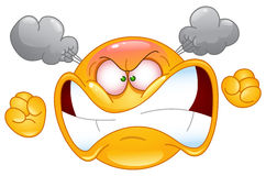 emoticon wściekły Zdjęcie Stock