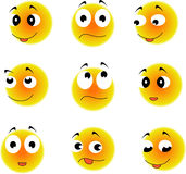 emoticon Wektoru stylu uśmiechu twarzy ikony Zdjęcie Royalty Free