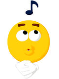 Emoticon Whistling Royalty Free Stock Photos