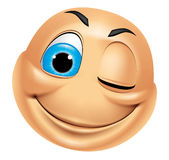 Emoticon Winking Stock Images