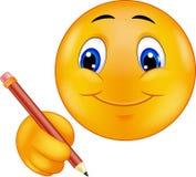 Emoticon writing Fotografia Royalty Free