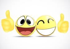 Emoticon z kciuka .business handlu pojęciem Fotografia Royalty Free