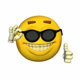 Emoticon - Zonnebril Royalty-vrije Stock Afbeelding