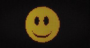 Emoticonlächeln LED lizenzfreie abbildung