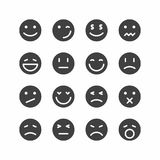 Emoticonpictogrammen stock illustratie