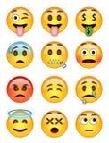 12 emoticons - πακέτο 2 - EPS - εικονογράφος Στοκ Φωτογραφίες