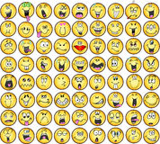 emoticons διάνυσμα εικονιδίων συγκίνησης Στοκ Φωτογραφίες