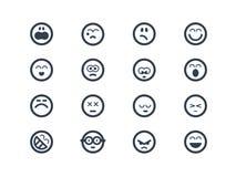 Emoticons Arkivfoton