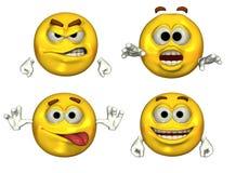 Emoticons 3D grandes Imagem de Stock